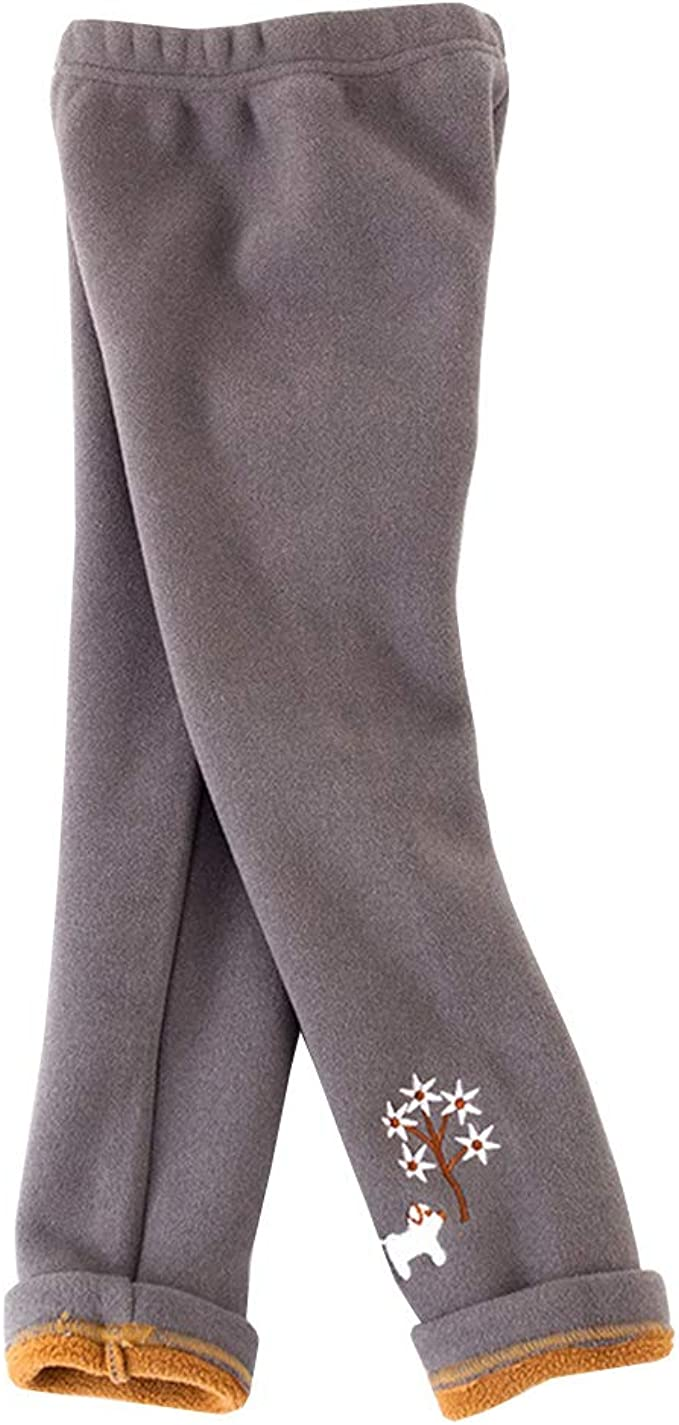Shengwan Leggings Invernali Bambina e Ragazza Termici Spessi Pantaloni Lunghi Leggins