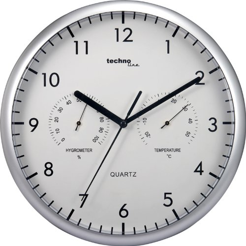 Amazon.com : Technoline WT 650 Wall Clock with Thermo and Hygro : Garden & Outdoor