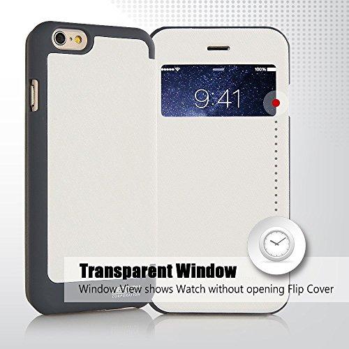 Iphone 7 Hülle, [WOW] VENTER® [Tropfen Schutz] Auto Ansicht Fenster Flip Cover [Stoßdämpfung ] für Iphone 7