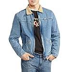 Wrangler Mens Hawkins Denim Fleece Lined Jacket – Blue