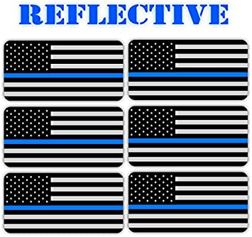 /< REFLECTIVE /> American Flag Black Ops Hard Hat Stickers /> Decals Stealthy Flags