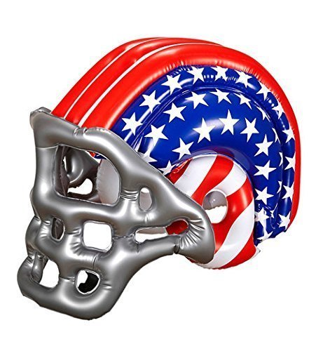 widmann 04867 – Inflatable Football Helmet with American Stars and Stripes, One Size -
