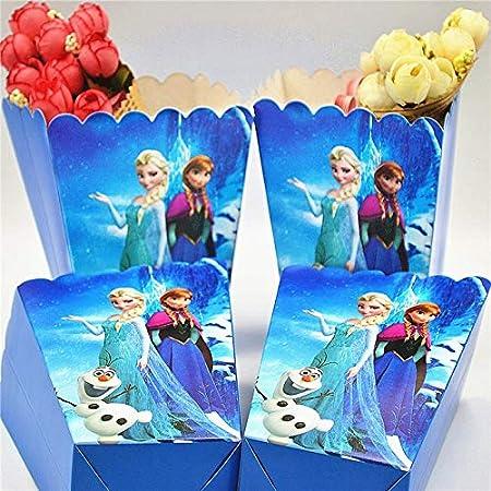 Uniqus - Juego de 6 Cajas con diseño de Frozen Anna Elsa ...