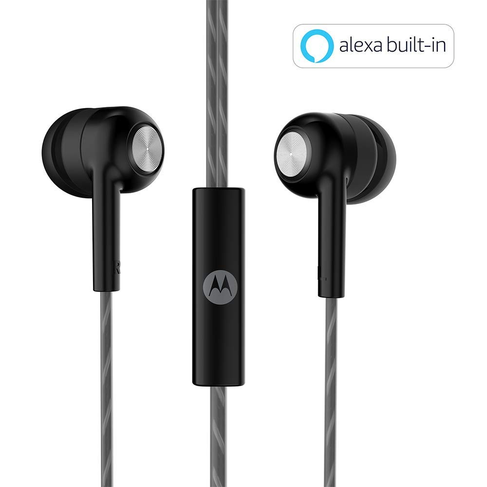 Motorola Pace 110 In-Ear Headphones With Mic, Extra Bass &