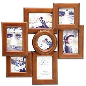 Lawrence Frames 7-Opening Collage Frame, Weathered Walnut