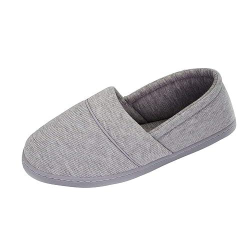 Primavera Otoño Mujeres Inicio Zapatillas de Interior Mocasines Suave Bottom Plaid Algodón Caliente Dormitorio Pisos Mujeres Embarazadas Zapatos: Amazon.es: ...