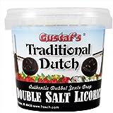 Gustaf's Traditional Dutch Authentic Double Salt Licorice (Dubble Zoute Drop), 7-Ounce Tub