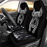 Deruj French Bulldog Art Print Black&White Car Seat Covers