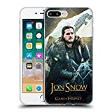 Official HBO Game of Thrones Jon Snow Horse Battle of The Bastards Soft Gel Case for iPhone 7 Plus/iPhone 8 Plus