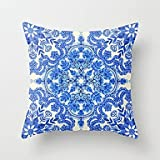 Pillow cover 1 Pcs Blue And White Porcelain Style Printing Pillow Cover Classic Cotton/Linen Pillow Case