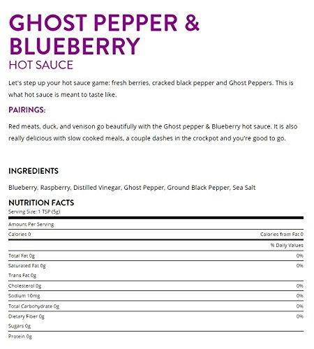 Bravado Spice Co. Hot Sauce 5 oz Bottles Gift Set (GHOST PEPPER + CRIMSON) by Unknown (Image #3)