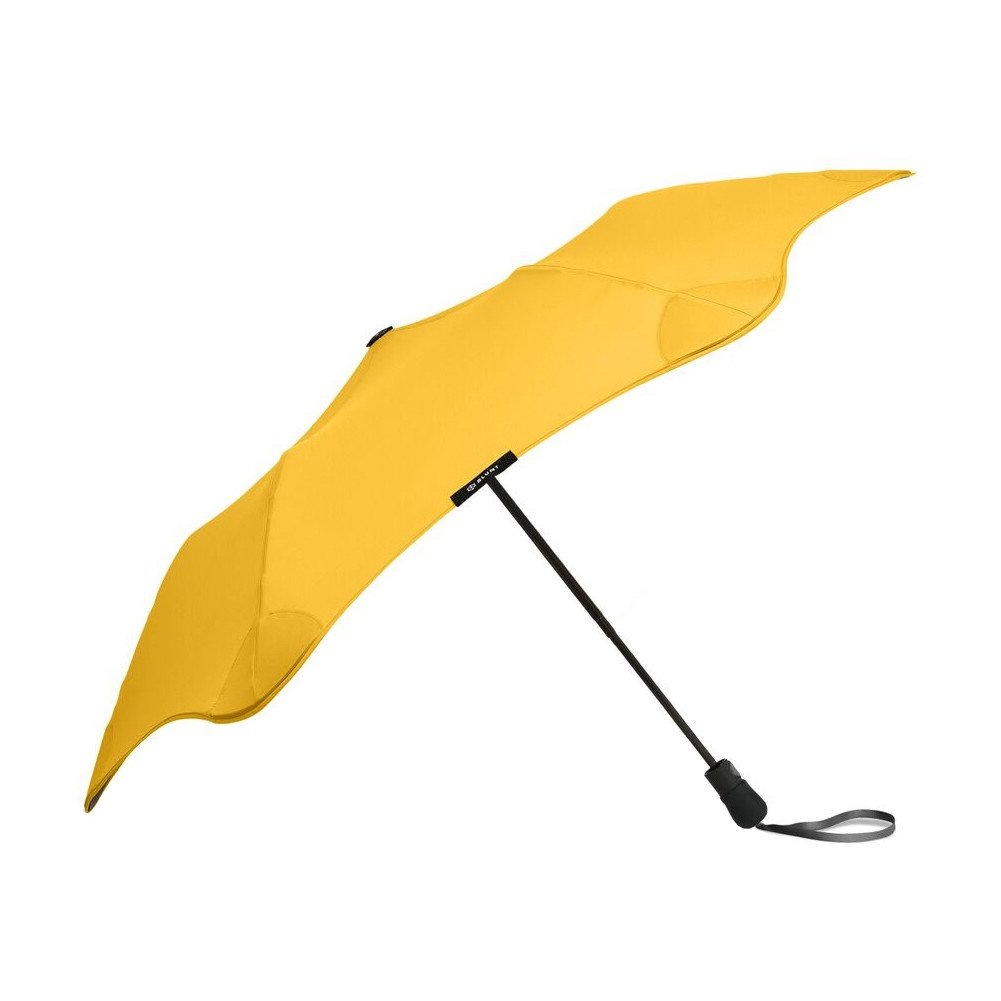 """BLUNT Metro Travel Umbrella with 37"""" Canopy and Wind Resistant Radial Tensioning System - Yellow"""