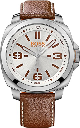Hugo Boss Men's Brisbane 1513097 Brown Leather Analog Quartz Watch