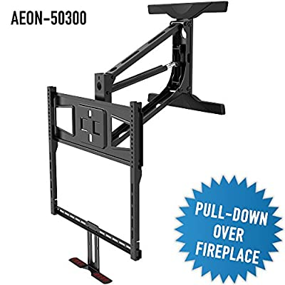 Pull Down Fireplace TV Mount w/Vertical and Horizontal Adjustment