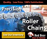 "#40 Riveted Roller Chain 10ft With 2 Connecting links 1/2"" Pitch"