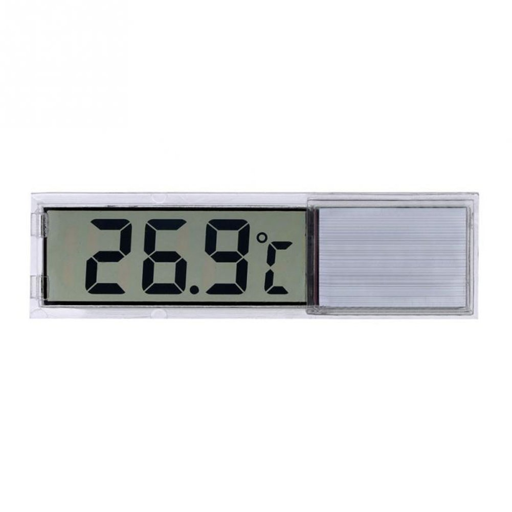 Accreate Practical LCD 4D Crystal Digital Electronic Thermometer Temperature Measurement for Fish Tank Aquarium (Silver)