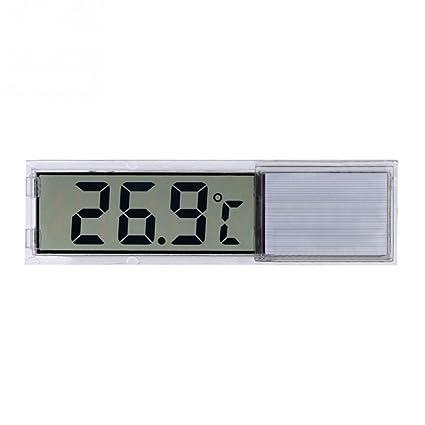 Zantec LCD 3D Cristal Digital Electrónico Termómetro Medición de Temperatura para el tanque Acuario Pecera