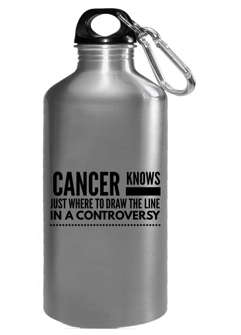 Amazon com zodiac cancer water bottle knows where to draw the line in a controversy horoscope gifts kitchen dining