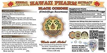 Black Cohosh Liquid Extract, Organic Black Cohosh Cimicifuga Racemosa Tincture Supplement 2×2 oz