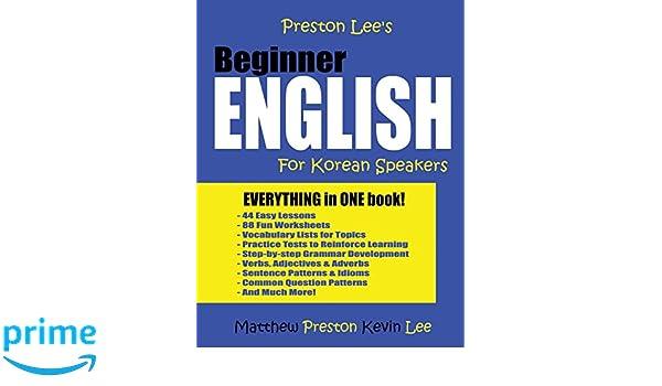 Amazon Com Preston Lee S Beginner English For Korean Speakers