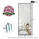 ONXO Full Length Mirror Large Floor Mirror Standing or Wall-Mounted Mirror Dressing Mirror Frame Mirror for Living Room/Bedroom/Cloakroom