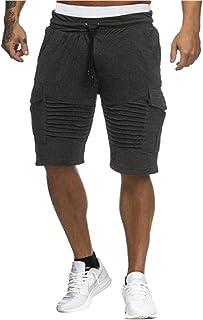 Tomwell Chino Shorts Cargo Pantaloncini Corti Uomo Bermuda Estivo MOD Regular Fit con Coulisse Sportivi da Jogging JQ180817XJ-DE07