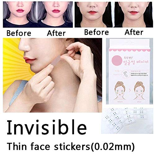 Face Lifting Patch Lift Chin Thin Face Invisible Artifact Sticker Adhesive Tape Make-up Face Lift Tools, Best Gift for Woman, 40Pcs/Box