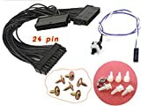Bitcoin Miner Accessories Set 1 x Dual PSU Power Supply 24-pin Cable/1 x Reset Switch Cable/6 x GPU Screws/6 x Motherboard Insulator - Standoffs - Spacers