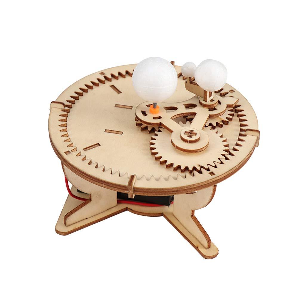 Toyvian Kinder Holzpuzzle Holzbausatz Holz Bausatz Sonnensystem Stern Weltrauminstrument Himmlisches Modell DIY 3D Puzzle Spiel