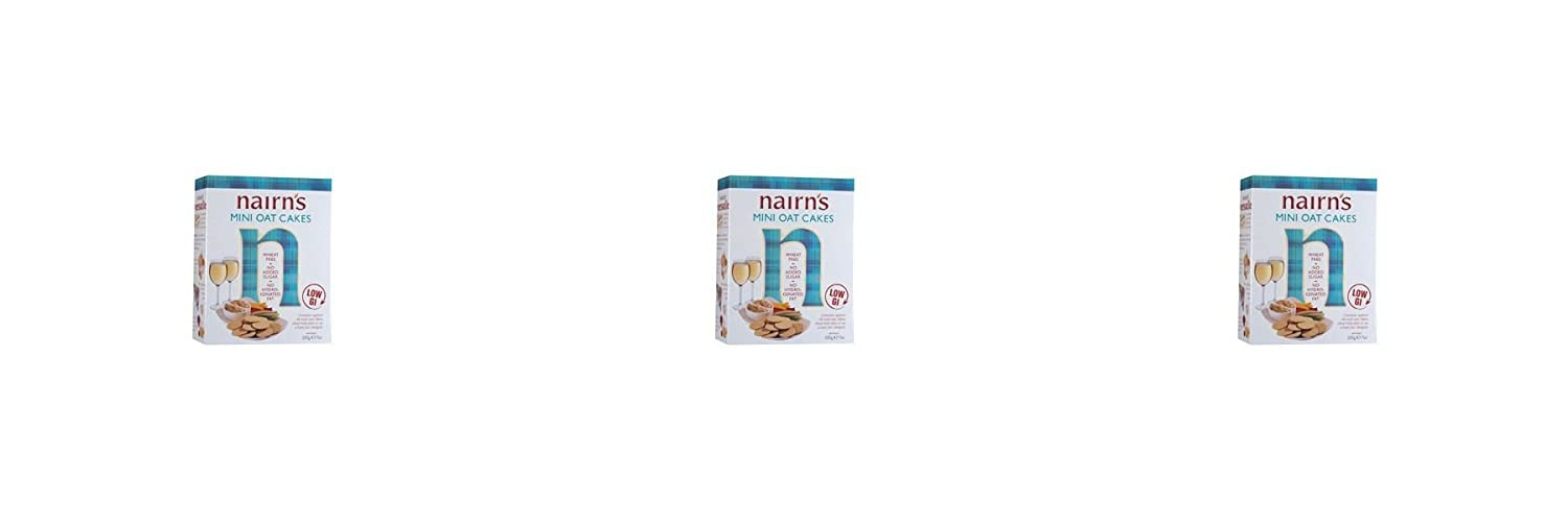 (3 PACK) - Nairns Mini Oatcakes| 200 g |3 PACK - SUPER SAVER - SAVE MONEY NAIRN'S OATCAKES