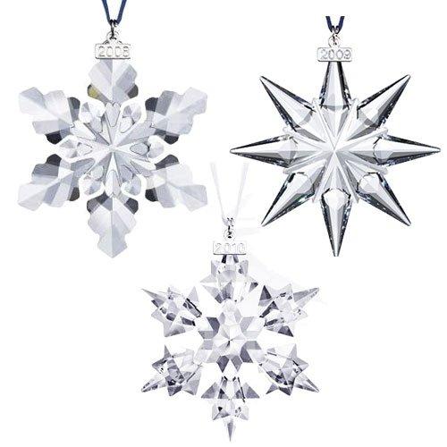 Swarovski Ornament Set of 2008 2009 and 2010 Annual Edition ()