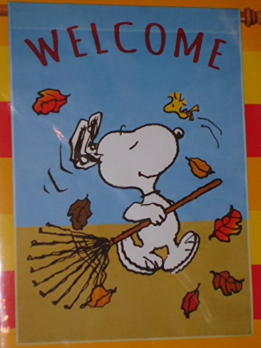 Peanuts Large Snoopy Welcome Fall Flag New 2015 Release