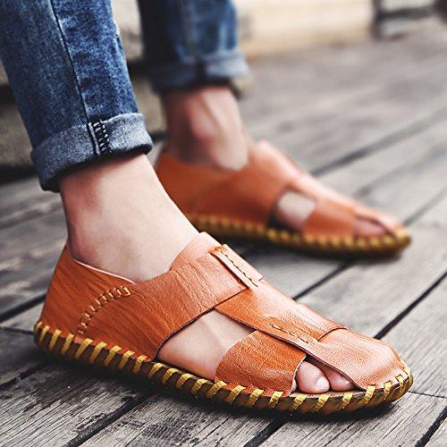 Xing Lin Sandalias De Hombre Los Hombres Sandalias Nuevo Verano Baotou Calzado Casual Zapatillas Sandalias Zapatos De Hombre Tendencia brown