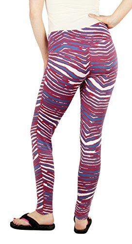 Zubaz Buffalo Bills NFL Women's Team Color Zebra Print Legging