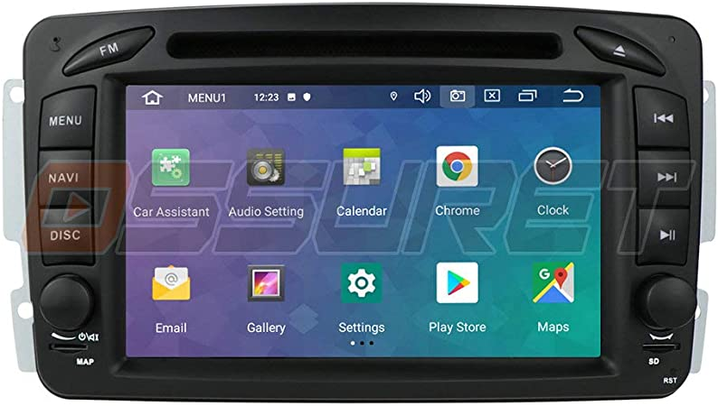 Ossuret Android 10 Car Stereo Radio GPS Navigation con Pantalla táctil de 7 Pulgadas Apta para Mercedes-Benz C-W209 / C-W203 / Viano/Vito/Vaneo/A-W168 ...