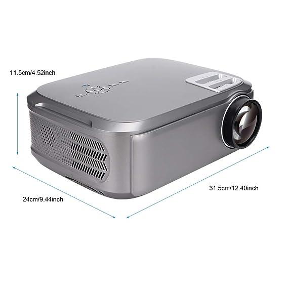 Proyector de cine en casa, 1280 x 768 HD micro-LED, soporta 19 ...