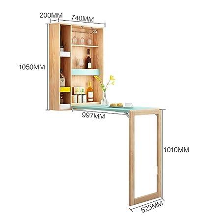 Mesa estudio Ahorrador del espacio de mesa de la cocina, montado ...