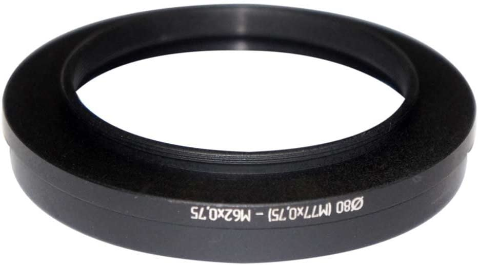 to M62x0.75 Thread Adapter for Filters and Matte Box d=80mm M77x0.75