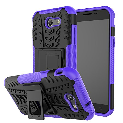 Samsung Galaxy J3 Emerge Case, Galaxy J3 Prime Case, Galaxy Amp Prime 2 Case, Galaxy Express Prime 2 Case Remex Durable armor with Resilient Shock Absorption and Kickstand Design (Purple)