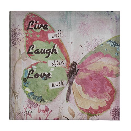 Zingz and Thingz Live Laugh Love Butterfly Canvas Wall
