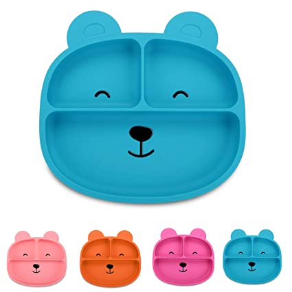 Baby /& Toddler Bear Bowl with Suction Food Grade Silicone