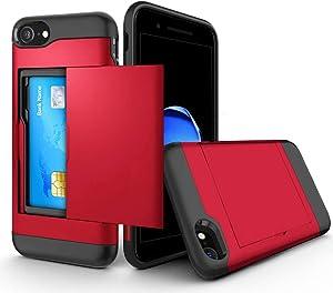 iPhone SE Case iPhone8 Case iPhone7 Case Card Storage Shockproof Fingerprint Prevention Scratch Prevention Full Protection Fall Prevention Mobile Cover