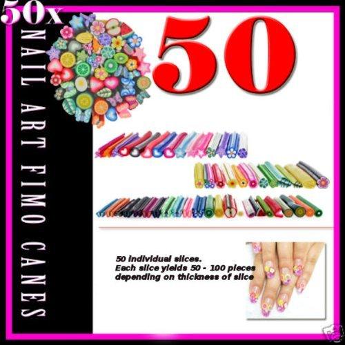 50 Full Fimo Cane For 3d Slice Nail Art Decoration + Razor Blade Boolevard Cosmetics Limited