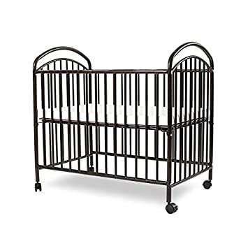 LA Baby Mini/Portable Crib, Black