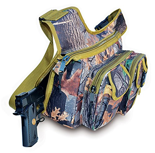 Explorer Wildland -Mossy Oak Realtree Like- Hunting Camo Multi-Functional Tactical Messenger Bag - Documents Bag- Multiple Pocket & Compartments