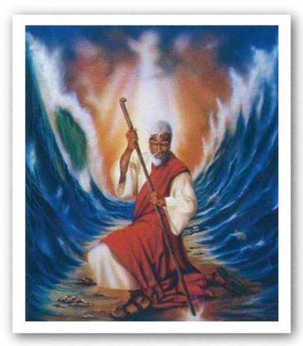 Moses Parting the Red Sea by Aaron Hicks - 25 x 21 inches - Fine Art Print / Poster (Parting Of The Red Sea)