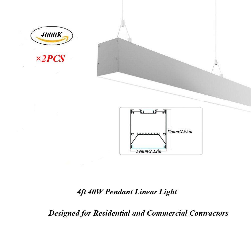 Hanks 2pcs 75 x 54 mm ac100 – 240 Vリンク可能Linearペンダント照明システムの建築家とデザイナー シルバー LSD01 B07BZXD4LS