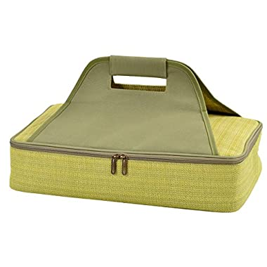 Picnic at Ascot Insulated Casserole Carrier to keep Food Hot or Cold- Olive Tweed