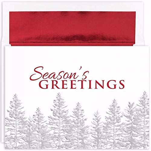 Silver Treeline Masterpiece Studios Boxed Holiday Cards ()