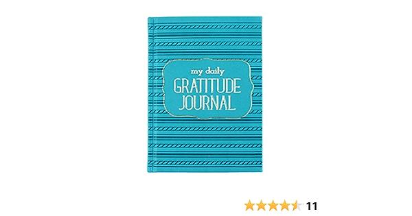 Eccolo World Traveler 4.75 x 6.5 Daily Gratitude Journal Sea foam T301M